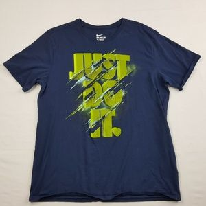 The Nike Tee Men's T-shirt Size XL Blue TQ5